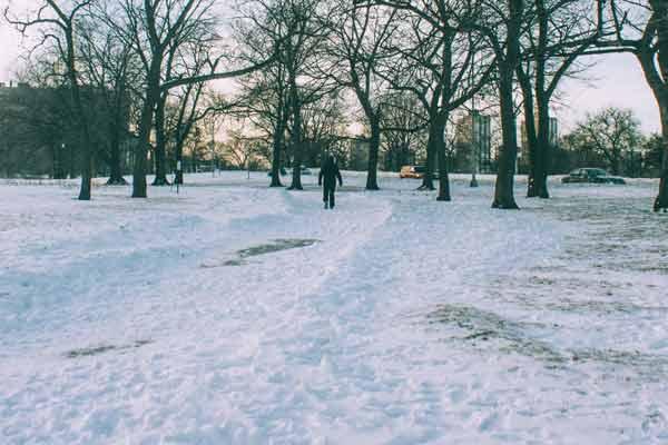 dangerous sidewalk - icy slip and fall - premises liability