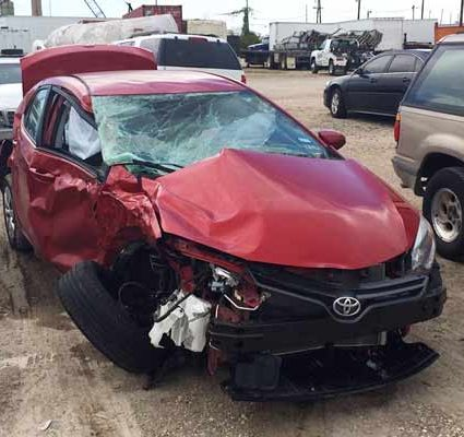 damaged car - lancaster car accident lawyer