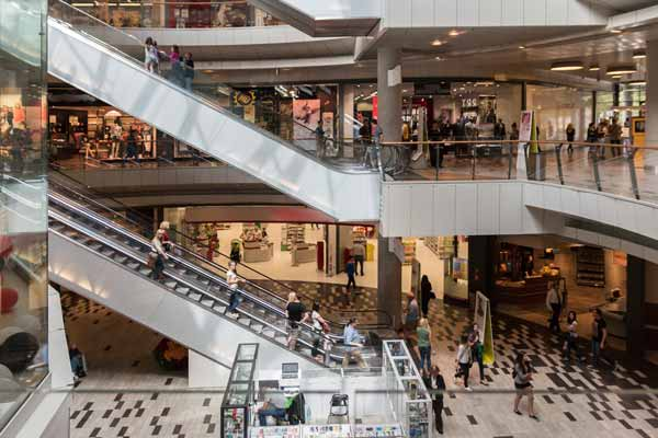 slip and fall or stair fall injury at the mall